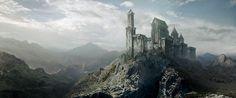 matte painting castle mountain - Recherche Google