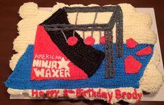 American Ninja Warrior Themed Cake Just A Photo Not Click Through