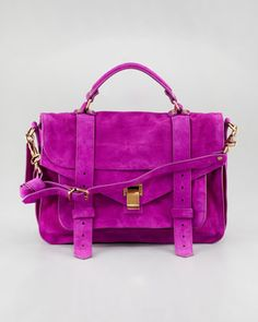 beautiful color - PS1 Medium Suede Satchel Bag, Orchid by Proenza Schouler at Bergdorf Goodman.