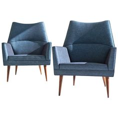 Paul McCobb Squirm Lounge Chairs ca.1957 | From a unique collection of antique and modern lounge chairs at https://www.1stdibs.com/furniture/seating/lounge-chairs/