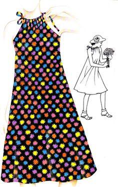Une robe toute simple à coudre pour les grandes chaleurs : La robe longue de…