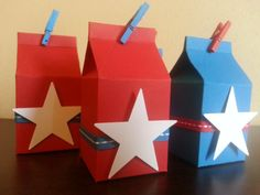 20 Patriotic Milk Carton Party Favors, Independence Day Favors, 4th of July Favors with Candy, Red White Blue, Stars and Stripes, Summer BBQ on Etsy, $40.00