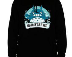 totoro hoodie totoro sweatshirt anime sweatshirt men's women's black cotton viscose christmas