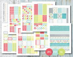 Free Printable Rainy Day Monthly Planner Sticker Kit {PDF, JPG and Silhouette Files} from Planner Addiction