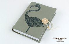 Conception de Journal  Flamingo coton / 4 couleurs / par Sandynbear, $33.90