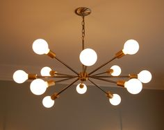 Mid-Century Sputnik inspired chandelier.. $635.00, via Etsy. why are all the light I like so expensive?!