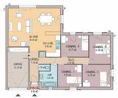 Incroyable Plan Maison 3 Chambres 1 Bureau