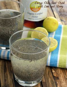 Food Fat Burning - Energy Chia Seed Drink with Lime and Honey, For Endurance Athletes We Have Developed The Simplest And Fastest Way To Preparing And Eating Delicious Fat Burning Meals Every Day For The Rest Of Your Life Fat Burning Drinks, Fat Burning Foods, Weight Loss Drinks, Weight Loss Smoothies, Bowls, Lemon Water Benefits, Chia Recipe, Lose 40 Pounds, 10 Pounds