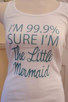 Little mermaid tank top mermaid disney mermaid by rachelwalter