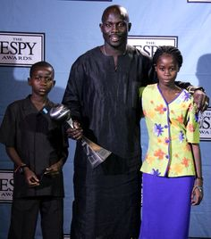George Weah winner of the Arthur Ashe Courage Award