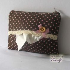 Tissue + coin Pouch / Cards pouch / Zippered Purse - 102-10