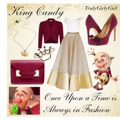 """""""Disney Style: King Candy"""" by trulygirlygirl on Polyvore"""