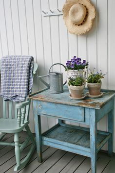 I have this same rocking chair...I'm going to paint it in a color just like this one!!