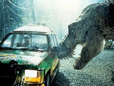 Jurassic Park. I love the movie almost as much as I love the book. Probably seen it 300+ times when I was a child. Very exciting to watch. Who doesn't love dinosaurs?