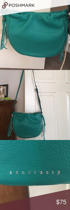 Leather handbag New with tags.  Bright green!!! Sanctuary Bags Shoulder Bags