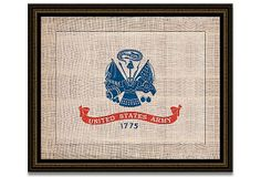 Army Flag on Antique Burlap on OneKingsLane.com