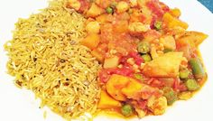 Vegetable curry with seeds & spice rice Weight Loss Eating Plan, Easy Weight Loss, Spiced Rice, Vegetable Curry, Free Meal Plans, Evening Meals, Mediterranean Style, Everyday Food, Eating Plans