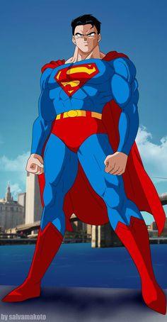 superman dbz by salvamakoto on DeviantArt Superman And Lois Lane, Superman Man Of Steel, Dbz, Comic Book Characters, Comic Character, Action Comics 1000, Dc Comics Art, Arte Horror, Smallville