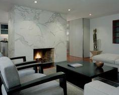cheminée moderne en marbre pour salle de séjour