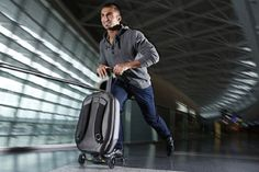 Travel Effortlessly Through The Airport With Bag That Doubles As A Scooter