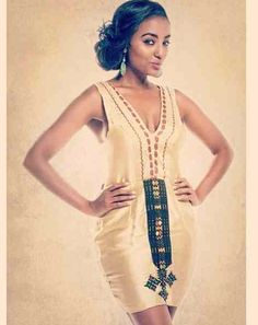 Beautiful Habesha dress designed by Meron Abebe  http://modelmeronabebe.com
