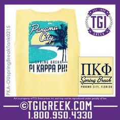 TGI Greek - Pi Kappa Phi - Spring Break - Greek  Tank #tgigreek #pikappaphi #springbreak