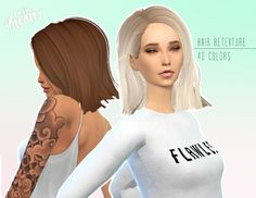 Hair retexture 40 colors at Miss Paraply via Sims 4 Updates