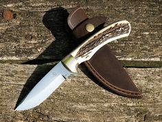 Handmade hunting knife with real stag antler by Wolfhuntershop, Ft20000.00