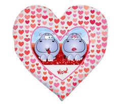Valentine's - Heart Shaped Cushion (Personalise it!