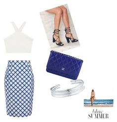 """blue summer"" by jrp8502 on Polyvore featuring BCBGMAXAZRIA, Jonathan Saunders, Nasty Gal, Chanel and Belk Silverworks"
