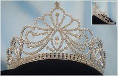 Miss Beauty Pageant Queen Bridal Rhinestone Silver Crown Tiara