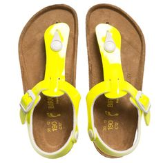 Birkenstock Girls Neon Yellow 'Kairo' Sandals at http://www.childrensalon.com/#a_aid=51f456f914eb5
