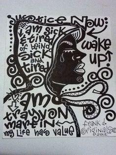 art about Trayvon Martin prisonculture