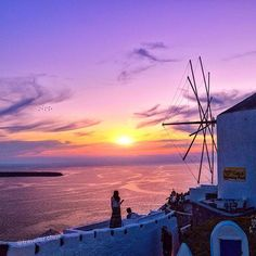 """A very  Purple Sun  at Oia, Greece. #travellerchris ✨Also featured on @wu_greece ✨"" Photo taken by @traveller.chris on Instagram, pinned via the InstaPin iOS App! http://www.instapinapp.com (09/03/2015)"