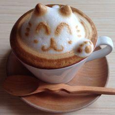 3-D Latte Art MEEEOOOWW