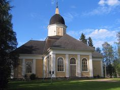 Hyrynsalmen kirkko Cathedrals, Finland, Norway, Sweden, Roots, Mansions, Architecture, House Styles, Home Decor