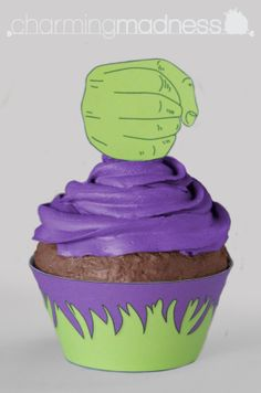 The Avengers - The Hulk Cupcake Wrappers & Toppers (Instant Download) by CharmingMadness on Etsy