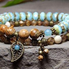 Handcrafted Nature Inspired Artisan Bracelets di BlueStoneRiver