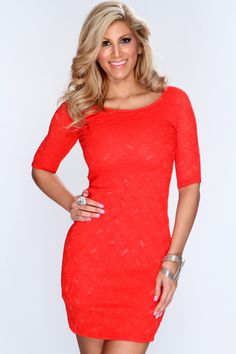 When you and your buds are going to be on the pursuit of a party, slip into this sultry dress. With metallic heels, a black clutch, and your signature red lip, this dress creates an electric ensemble that will keep you feeling fabulous no matter where the night takes you and your pals! This dress features boat neckline, short sleeves, embroider overlay and tight fitted to show off your sexy curves. 96% Nylon 4% Spandex Made in U.S.A