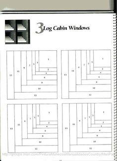 Attic Windows, log cabin style! (101 LogCabinBlocks - Aderita Rubio - Álbumes web de Picasa)