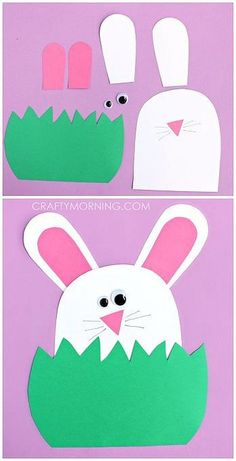 Paper Bunny Hiding in the Grass Craft – Crafty Morning - Spring Crafts For Kids Easter Crafts For Toddlers, Easter Projects, Bunny Crafts, Easter Activities, Crafts For Kids To Make, Easter Crafts For Kids, Projects For Kids, Art For Kids, Craft Kids