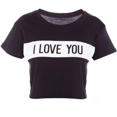 Lovers Friends I Love You For Now Tee (630 BRL) ❤ liked on Polyvore featuring tops, t-shirts, shirts, crop tops, crew-neck shirts, short sleeve t shirt, crew neck shirt, t shirts and short sleeve crew neck t shirt