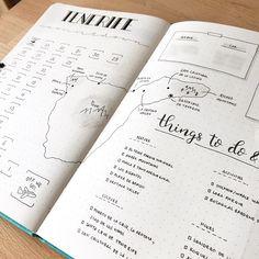 Bullet journal trip planner, bullet journal vacation planner. | @overalergens