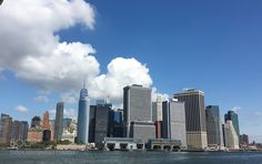 Lower Manhattan skyline from a ferry boat by Pubserv23 #nature #travel #traveling #vacation #visiting #trip #holiday #tourism #tourist #photooftheday #amazing #picoftheday
