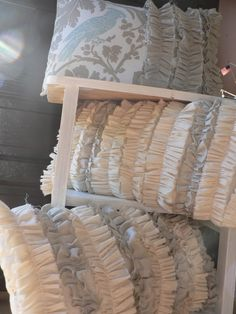 drop cloth ruffle pillow $18
