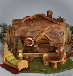 Log Gnome Home, my boys would LOVE this!