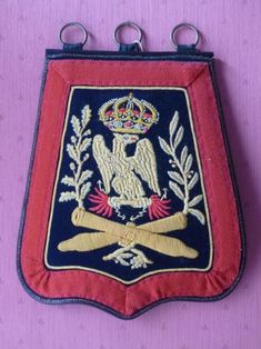 Sabretache de l'Artillerie à Cheval de la Garde Impériale (Premier Empire).