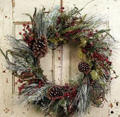 Wreaths For Door - Frosted Morning Winter Door Wreath, $74.99 (http://www.wreathsfordoor.com/frosted-morning-winter-door-wreath/)