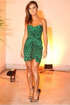 Bright green leopard print dresses - Sabrina Sato #brazil #fashion