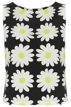 dlachowski_'s save of Sleeveless Daisy Print Shell Top - Tops - Clothing - Topshop USA on Wanelo Topshop Style, Topshop Tops, 1960s Inspired, Xmas Wishes, Shell Tops, Black Sleeveless Top, Black Tank Tops, Flower Prints, Get Dressed